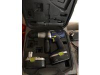 Cordless drill and box no charger