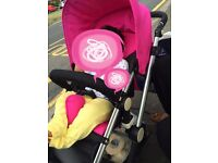 Little devils travel system 3 colour packs pink red orange
