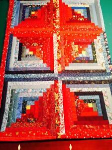 Quilt tops with binding