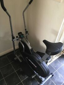 Confidence cross trainer and bike 2 in 1