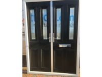Composite Black French Doors