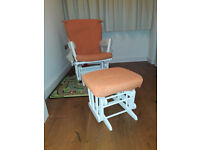 Dutailier Glider Rocking Chair and Footstool