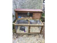Rabbit / Guinea pig 4ft Hutch 4ft with base run