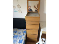 Ikea chest of drawer , wardrobe , double bed , desk collect TODAY