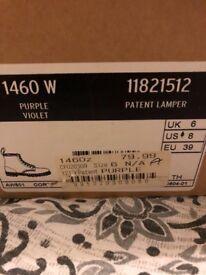 Dr Marten purple boots, size 6