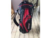 Slazenger lightweight carry golf bag with built in stand.