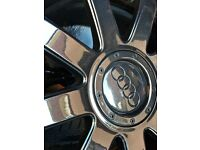 "Genuine OEM Audi TT 18"" 9 Spoke Alloy Wheels in Metallic Anthracite (MK1 TT) 5x100"
