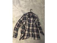 Size 14 papaya checkered shirt