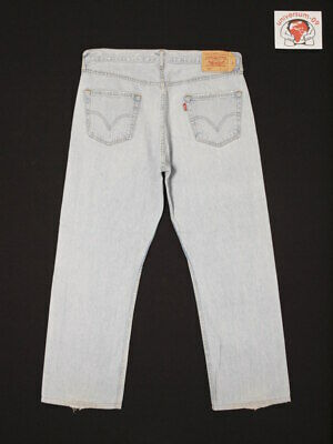Levi's 501 ORIGINAL FIT 36x30 W36 L30 Vintage Denim Jeans STRAIGHT LEG 005010063 ()
