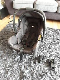 Baby car seat joie gemm group 0+ in black. Very good condition