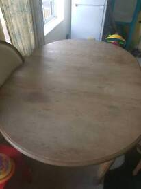 OKA extendable dining table and 6 upholstered chairs