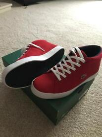 Brand New in Box Lacoste High Top Trainers Size 5