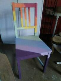 Wooden single rainbow chair