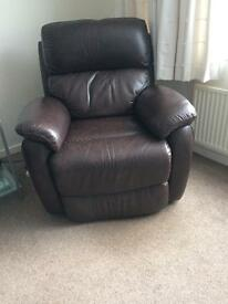 Navona Power Leather Recliner Chair