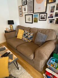 Sofa bed with removable, washable covers