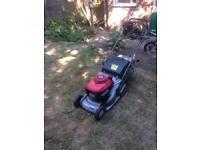 Honda lawnmower rear roller self propelled