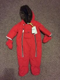 Baby Boy Ted Baker Snowsuit Pram suit Brand New Red Christmas Winter size 3-6 months