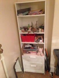 White dresser/shelving unit