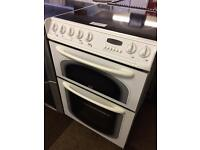 CREDA 60CM FAN ASSISTED DOUBLE OVEN ELECTRIC COOKER057