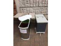 New unused metal kitchen cupboard recycling bin storage
