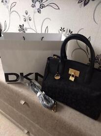 Genuine DKNY bag black and gold