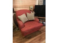 Laura Ashley red armchair