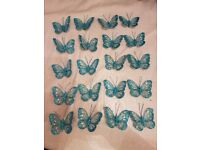 Various sized clip on and wired butterflies. See description for individual prices