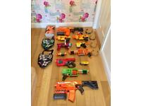 10 Nerf Guns and Accessories