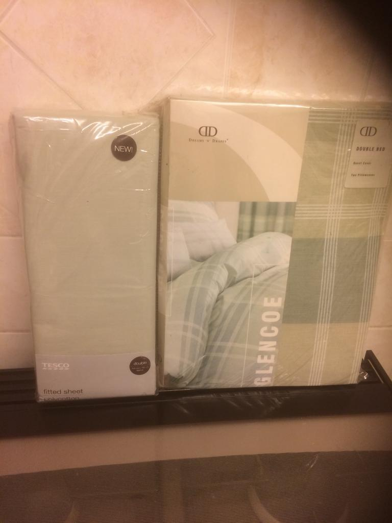 Double Duvet Set with Fitted Sheet