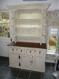Painted Display Dresser/Cabinet