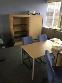 8 x high quality straight desks on clearance at just £25 each
