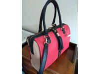 Steve Madden red and black handbag - new and unused