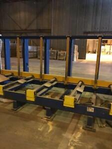 SAMUEL Lumber Strapping System W/ In+Outfeed Conveyors