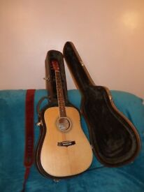 Unused Tanglewood Nashville 111 Acoustic Guitar and case.