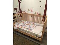 IKEA Gulliver baby cot and Vyssa Vackert mattress - larger US model