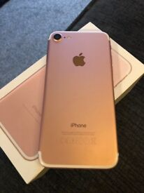 iPhone 7 32GB, Rose Gold, Box & Everything Excellent condition £400 ONO