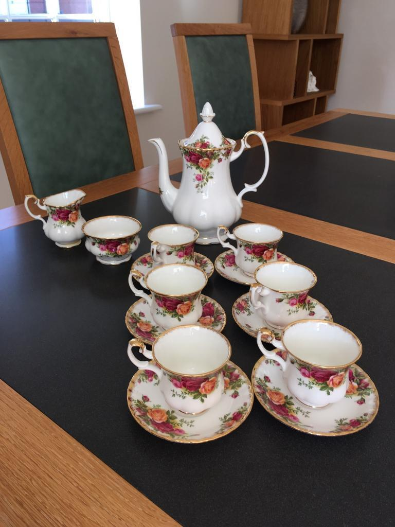 Country rose coffee set