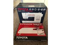 Toyota Super Jeans 15 sewing machine and extension table