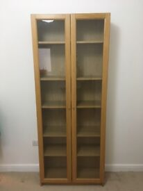 Wooden & glass cabinet - excellent condition