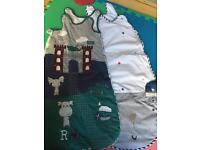 2 Boys baby sleeping bags 6 and 12-18 months