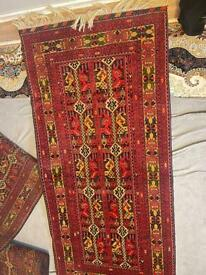 4 Vintage Paisley Tribal Balouch Afghan Oriental Area Rug Hand-knotted Carpet 3x6