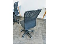 Black Mesh Swivel Office Chair with Height Adjust (7 available)