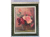 Vintage French Oil Painting Framed