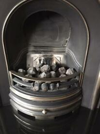 Cast Iron Gas Fireplace with inset & Granite Hearth