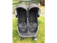 Britax b-agile double buggy / pram ALSO included **car seat and isofix base**