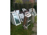 Various wooden window casements (no frames), £3 each