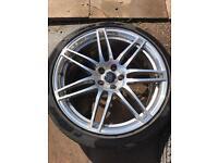 Genuine Audi Le Mans 20 alloy Pirelli tyre