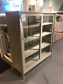 *RESERVED*IKEA Sheffield, IDASEN Cabinet with sliding glass doors, beige, 120x140 cm #bargaincorner