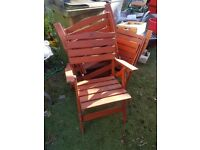 4 folding wooden chairs