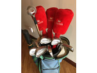 Set of ladies Fazer Golf Clubs in Bag with Trolley and Umbrella